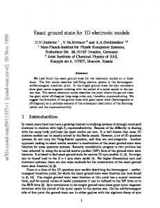 Exact ground state for 1D electronic models