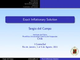 Exact Inflationary Solution