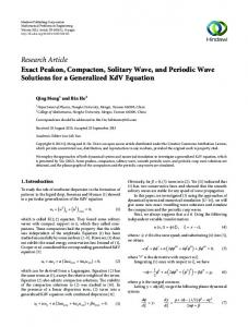 Exact Peakon, Compacton, Solitary Wave, and Periodic Wave