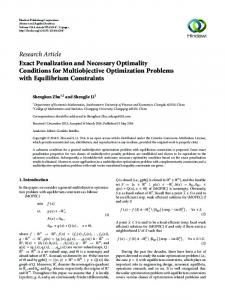 Exact Penalization and Necessary Optimality Conditions for ...