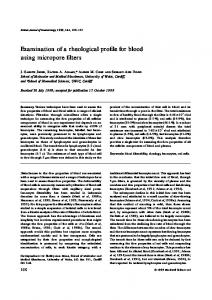 Examination of a rheological profile for blood ... - Wiley Online Library