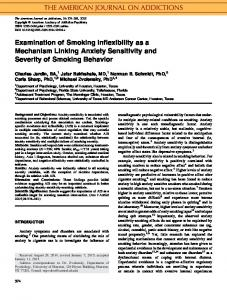 Examination of smoking inflexibility as a ... - Wiley Online Library