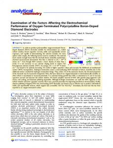 Examination of the Factors Affecting the Electrochemical Performance ...