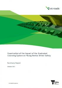 Examination of the Impact of the Graduated Licensing ... - VicRoads