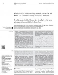 Examination of the Relationship between Umbilical Cord Blood Gas