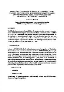 examining coherence of accuracy tests of total station surveying and ...