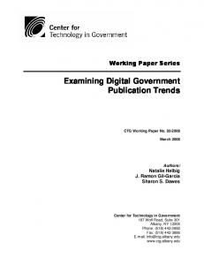 Examining Digital Government Publication Trends - Center for ...