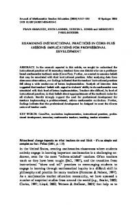EXAMINING INSTRUCTIONAL PRACTICES IN CORE ... - Springer Link