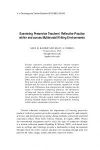 Examining Preservice Teachers' Reflective Practice ... - LearnTechLib