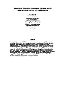 Examining the Contribution of Information Technology Toward ...