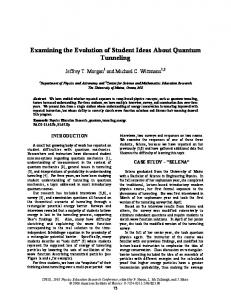 Examining the Evolution of Student Ideas about Quantum Tunneling