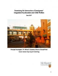Examining the Intersection of Immigrants' Integration/Acculturation and ...