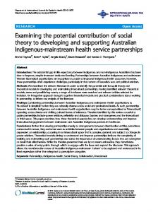 Examining the potential contribution of social theory to ... - Springer Link