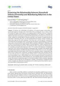 Examining the Relationship between Household Vehicle ... - MDPI