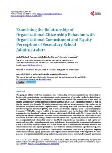 Examining the Relationship of Organizational Citizenship Behavior ...