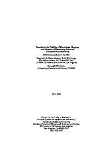 Examining the Validity of Knowledge Mapping as a ... - CRESST