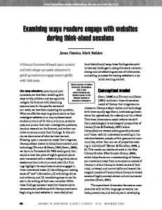 Examining ways readers engage with websites ... - Indiana University