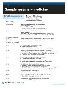EXAMPLE OF A COMBINATION RESUME