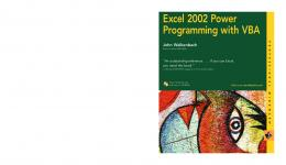 Excel 2002 Power Programming with VBA - Free