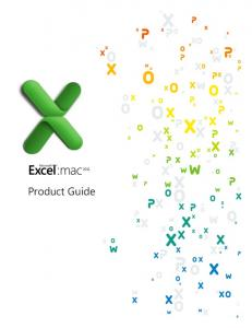 Excel for Mac 2011 Product Guide.pdf - Microsoft Download Center