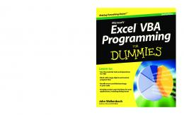 Excel VBA Programming For Dummies, 2nd Edition