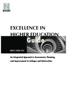 ExCELLENCE IN HIGHER EDUCATION - Rutgers University