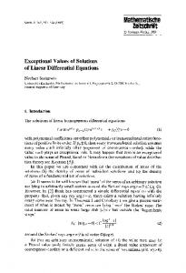 Exceptional values of solutions of linear differential equations