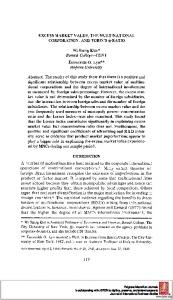 EXCESS MARKET VALUE, THE MULTINATIONAL ... - SSRN