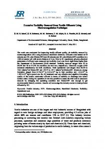 Excessive Turbidity Removal from Textile Effluents Using ...