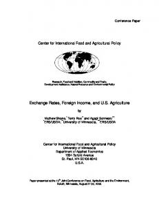 Exchange Rates, Foreign Income, and US Agriculture - AgEcon Search