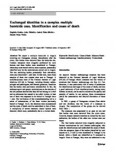 Exchanged identities in a complex multiple homicide ... - Springer Link