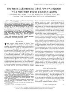 Excitation Synchronous Wind Power Generators With ... - IEEE Xplore