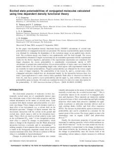 Excited state polarizabilities of conjugated ... - Semantic Scholar