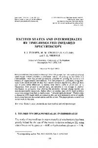 excited states and intermediates by time-resolved infrared ... - Hindawi