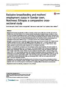 Exclusive breastfeeding and mothers' employment