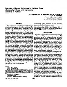 Excretion of Purine Derivatives by Holstein Cows ... - PubAg - USDA