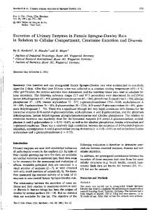 Excretion of Urinary Enzymes in Female Sprague