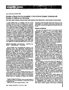 Excretionof Digoxin-likeImmunoreactivityin Urine ... - Clinical Chemistry