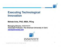 Executing Technological Innovation - TIEC