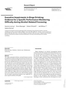 Executive Impairments in Binge Drinking: Evidence for a ... - LEP