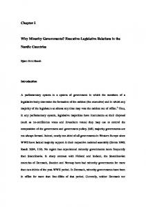 Executive-Legislative Relations in the Nordic Countries
