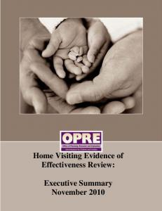 Executive Summary - Home Visiting Evidence of Effectiveness - HHS ...