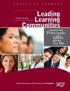 Executive Summary - Leading Learning Communities