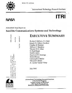 executive summary - NASA Technical Reports Server (NTRS)