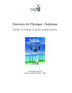 Exercices de Physique - Solutions