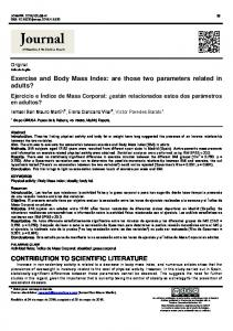 Exercise and Body Mass Index - Dialnet