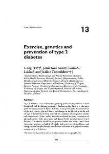 Exercise, genetics and prevention of type 2 diabetes - Semantic Scholar