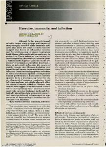 Exercise, immunity, and infection