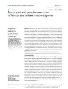 exercise-induced bronchoconstriction in Tunisian elite ...