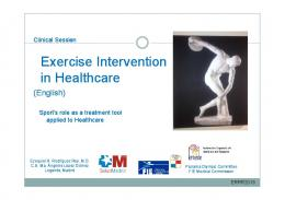 Exercise Intervention Intervention in Healthcare